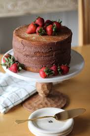 vanilla cake with chocolate mousse love your abode