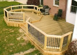 Backyard Deck Ideas Backyard Decking Designs Of Goodly Outdoor Deck Designs