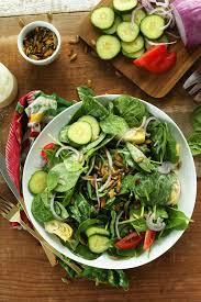 creamy spinach salad minimalist baker recipes