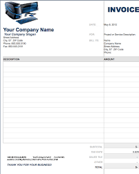 5 best images of computer service invoice template blank service