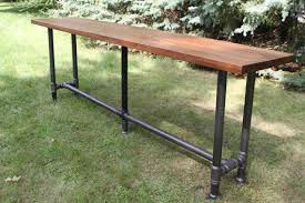 Outdoor Bar Table Hadncrafted Beauty And Gritty Industrial Lines Collide In This