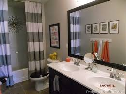 Boys Bathroom Ideas Boy Shared Bathroom Neutral With Pops Of Color Designed