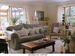 interiors traditional conservatory living room stock photos