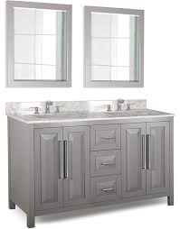 Bathroom Double Vanity Cabinets by Hardware Resources Cade Contempo Double 60 Inch Transitional