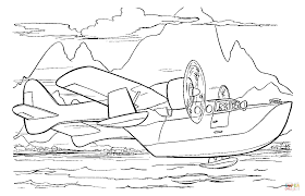 airplane and boat coloring page free printable coloring pages