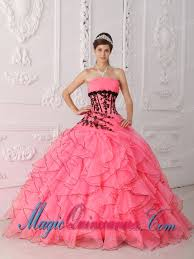 15 quinceanera dresses sweet 15 quinceanera dresses in coral strapless appliques and