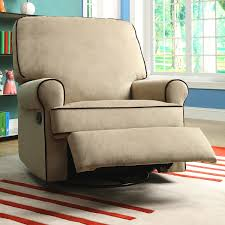 tan modern recliner chair with fabric upholstery also black line
