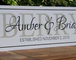 monogrammed anniversary gifts wooden signs last name sign god bless our home personalized