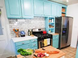 contemporary blue kitchen cabinets on kitchen design ideas
