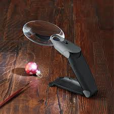 hands free lighted magnifier 2 5x freehand lighted magnifier the container store