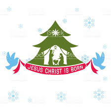 merry jesus is born stock vector more images
