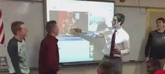 rapping teacher featured in popular internet video