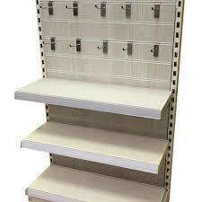 Metal Wall Shelving by 10 Best Slatwall Metal Shelving Displays Diy Display Shelving