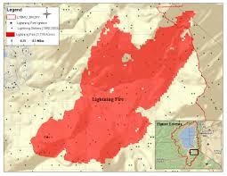 Lightning Strike Map Fire Analysis Within The Lake Tahoe Basin