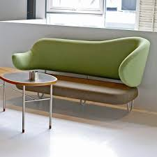 scandinavian design sofa fabric lacquered steel by finn juhl
