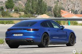 porsche panamera blue porsche 971 panamera turbo 5 july 2016 autogespot