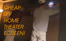 home theater screen paint diy screen for projector home theater youtube