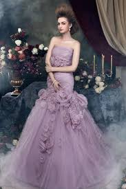 purple wedding dress brilliant trumpetmermaid strapless tulle chapel flowers