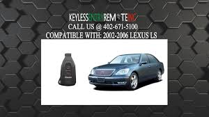 lexus rx330 key shell replacement how to replace lexus ls key fob battery 2002 2003 2004 2005 2006