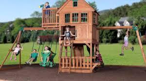 best buy skyfort all cedar play set youtube