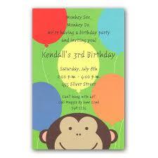 peeking monkey birthday invitations clearance paperstyle