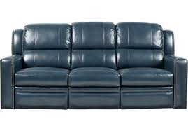 Contemporary Reclining Sofa With Topstitch by The Perfect Blue Reclining Sofa Designs For Your Living Space