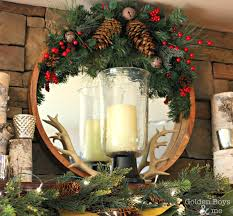 golden boys and me rustic christmas mantel