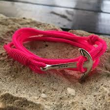 wrap bracelet with anchor images Pink quot hope quot multi wrap bracelet with anchor charm nautiropes JPG