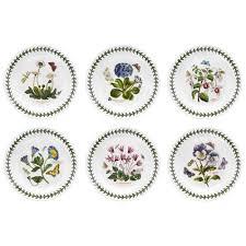 Portmeirion The Botanic Garden by Botanic Garden Plate Set Of 6 Susan Williams Ellis
