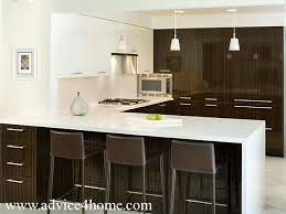 brown and white kitchen cabinets white modern cabinets design and white upper countertop in kitchen