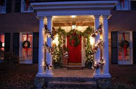 front porch christmas decorations for christmas with magnolia and pine