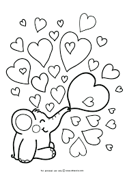 Elephant Love Coloring Page   i love free printable coloring page by oksancia with rondy the