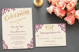 purple and gold wedding invitations printable wedding invitation suite template