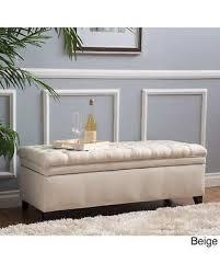 storage ottoman bench brown surprise 15 off hastings tufted fabric storage ottoman bench by