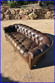 Chesterfield Tufted Leather Sofa Schafer Bros Antique Leather Sofa Vintage Leather