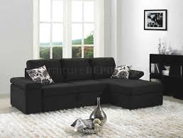 Black Fabric Sectional Sofas Black Fabric Modern Sectional Sofa Set W Bed