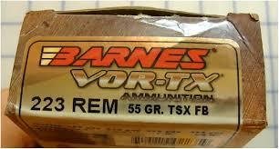 Barnes Vor Tx 223 Rem Barnes Vor Tx 55 Gr Tsx Ballistic Gel Test Youtube