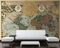map mural map wall murals home decorating interior design bath