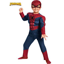 Baby Spider Halloween Costume Disguise Toddler Boys Spider Man Movie 2 Muscle Chest Costume