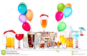 birthday drink different images of alcohol with balloons royalty free stock