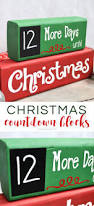 christmas countdown blocks cricut chalkboards and silhouettes