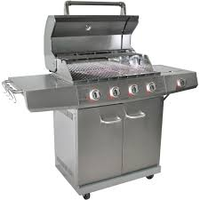 Brinkmann Dual Function Grill by Better Homes And Gardens 4 Burner Gas Grill Stainless Steel