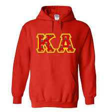 kappa alpha fraternity crest twill letter hooded sweatshirt sale