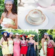 tea party bridal shower ideas a mad hatter tea party bridal shower green wedding shoes