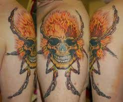 ghost tattoos ghost rider finished tattoo by yayzus on deviantart