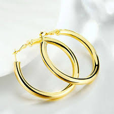 gold hoop earrings uk yellow gold plated costume earrings ebay