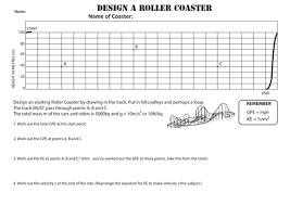 design a rollercoaster worksheet gpe u0026 ke by uhf teaching