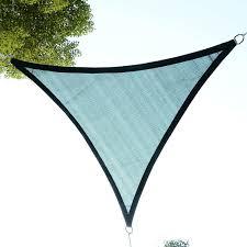 aosom outsunny 10 u0027 triangle outdoor patio sun shade sail canopy