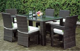 Wicker Style Outdoor Furniture by Close Knit Style Outdoor Wicker Dining Table Set Close Knit