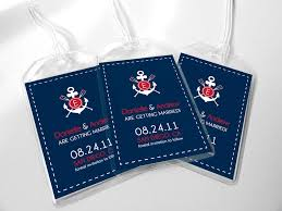 wedding luggage tags custom save the date wedding luggage tags nautical sailing